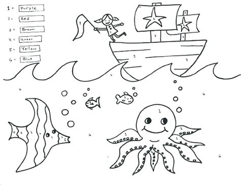 subtraction coloring pages free printable worksheets