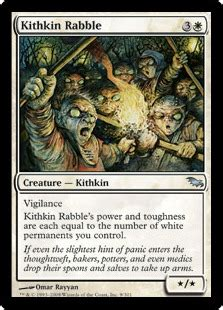 Kithkin Deck Magic The Gathering kithkin rabble the magic the gathering wiki magic