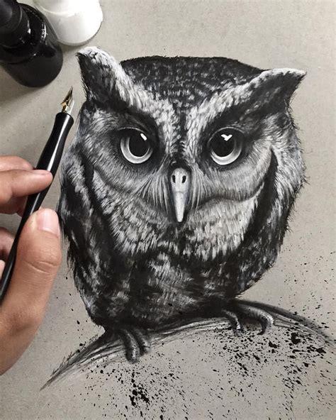 pin  tomas gonzalez  drawings owl art owl owl sketch