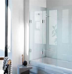 Diptych Bi Fold Bath Screen Frameless Glass Shower