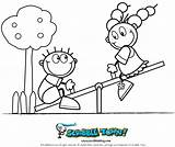 Seesaw Coloring Saw Playground Drawing Sketch Crafts Printable Scribble Template Getdrawings sketch template