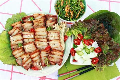 dishes side samgyeopsal korean bbq