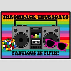 Fabulous In Fifth! Throwback Thursday Back To School Rules