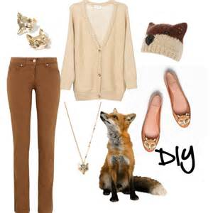 flat stud earrings diy fox costume polyvore