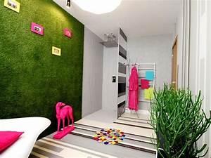 gazon synthetique pour interieurs With salle de bain design avec fruits décoratifs artificiels