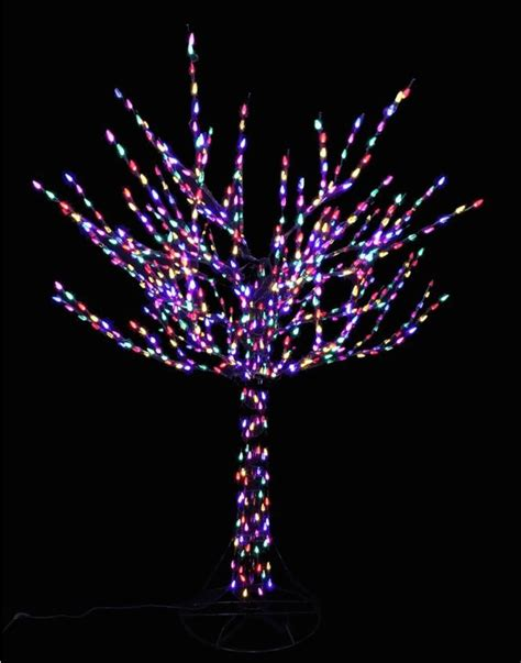 colored tree lights led bare branch tree multi colored lights
