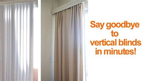 How To Hide Or Replace Vertical Blinds With Curtains Rose Gold Curtains Target Patchwork Shower Curtain Tutorial Nautical And Valances For Ac Room India Roller Shutter Door Air 2 Living Windows Ideas Two How To Install Ceiling Mount Brackets