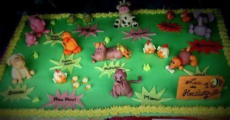 decoration poule pour cuisine gâteau thème animaux de la ferme 2 fée des gâteaux