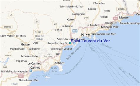 laurent du var tide station location guide