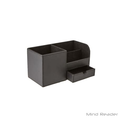 faux leather desk organizer mind reader faux leather 3 compartment desk supplies