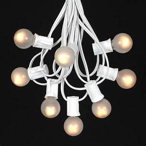frosted white g30 globe round outdoor string light set on With outdoor patio lights with white cord