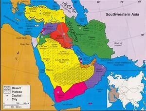 Physical Map Of Southwest Asia | Adriftskateshop