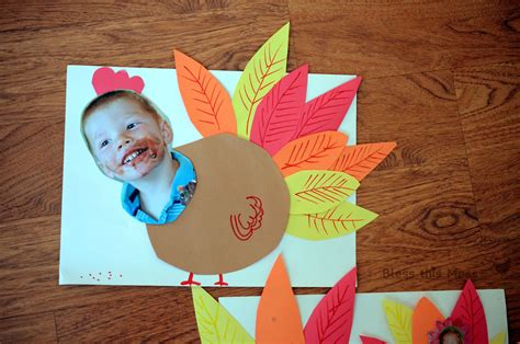 5 easy turkey crafts for bless this mess 434 | Thanksgiving turkey craft for kids preschool with pictures of kids