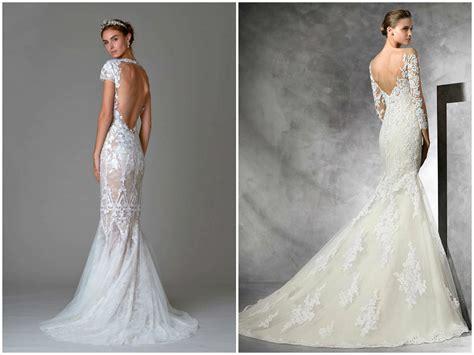 Lace Open Back Wedding Dress 2017
