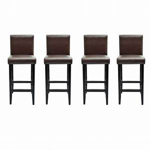 Tabouret De Bar Marron : 4 tabourets de bar marron achat vente tabouret de bar black friday le 22 11 18h cdiscount ~ Melissatoandfro.com Idées de Décoration