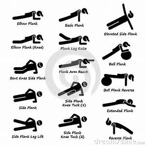 Plank Exercise Time Chart Plank Training Variations Exercise Clipart Stock Vector