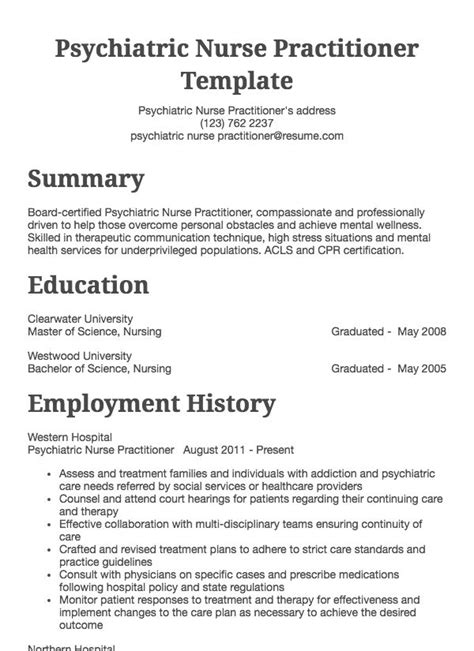 Practitioner Resume by Resume Sles 125 Free Exle Resumes Formats