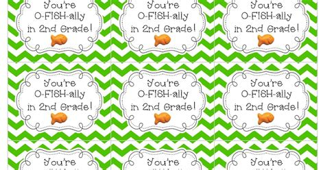 I'm O-fish-ally In 2nd Grade! Freebie