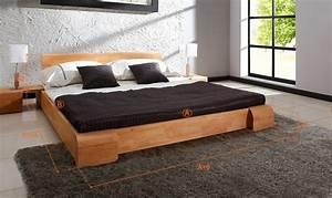Lit Bois Massif Design : lit bas japonais design en bois massif naturel fuji ~ Teatrodelosmanantiales.com Idées de Décoration