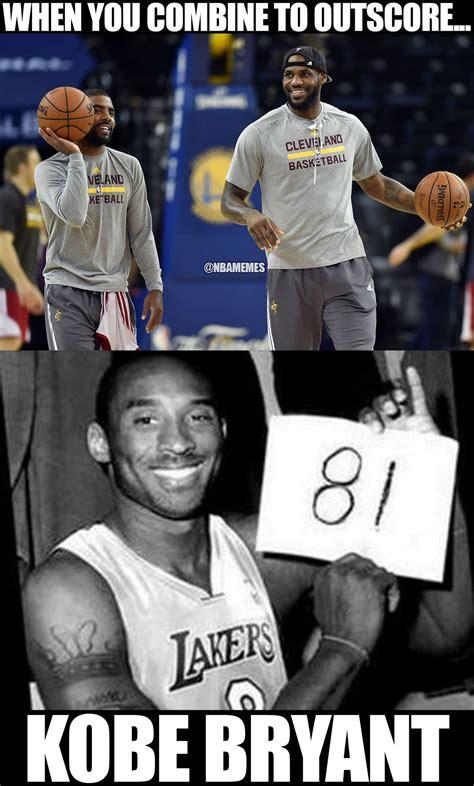 Kobe Memes - rt nbamemes kyrie irving lebron james 82 gt kobe bryant 81 cavs fans http