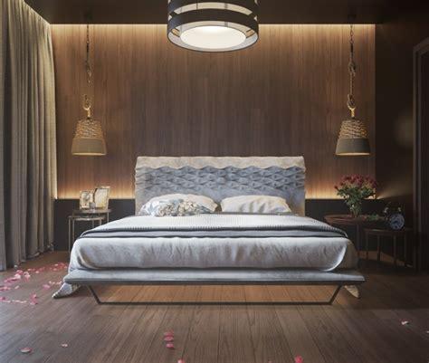 chambre avec mur en mur en bois pour une déco originale de chambre à coucher