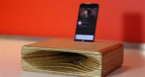 wooden iphone speaker how to make a wooden speaker for your phone