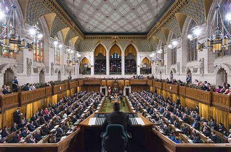 chambre du parlement guide de la chambre des communes du canada