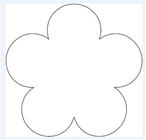 Flower Template Printable Flower Pattern Printables Flower Template
