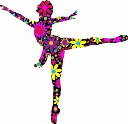 Silhouette Dancer Dancing Ballet Clipart Dance Colorful