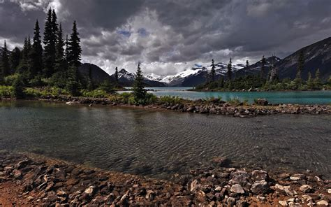 nature, River, Sky, Mountain, Canada Wallpapers HD ...