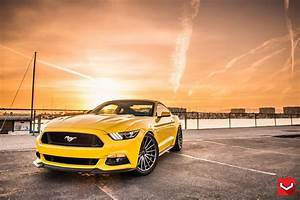 Nice and Clean Yellow Mustang From Hawaii on Vossen Rims — CARiD.com Gallery