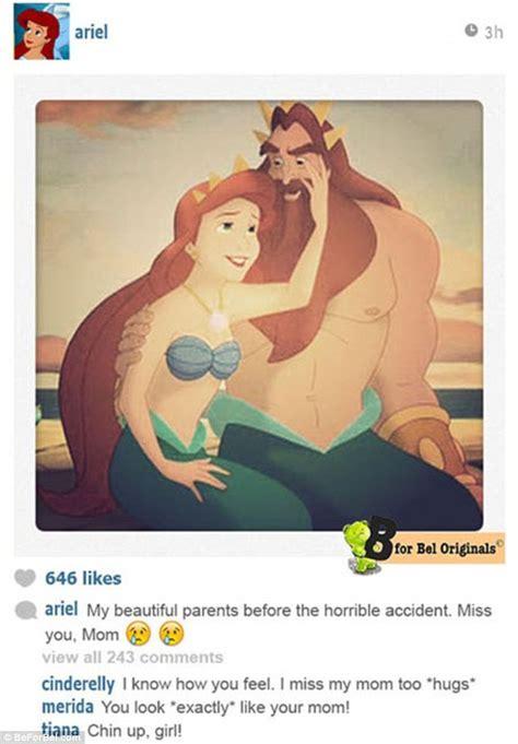 B For Bel Imagines What Disney Princesses Instagram Feeds