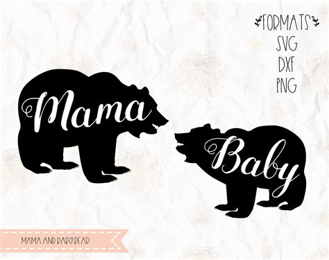 Mothers and babies animals collection. Mama bear baby bear SVG layered PNG DXF Pdf cricut   Etsy