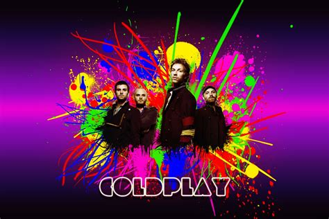 Coldplay Full Paint Art Wallpaper Wallpaper