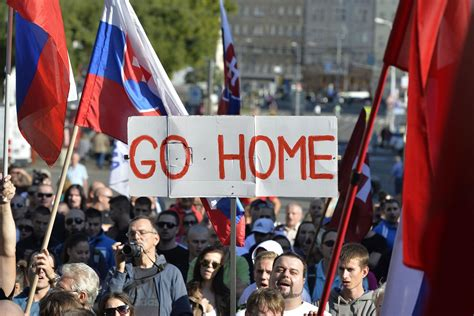 slovakia refugees syrian protest 1900 into adapt