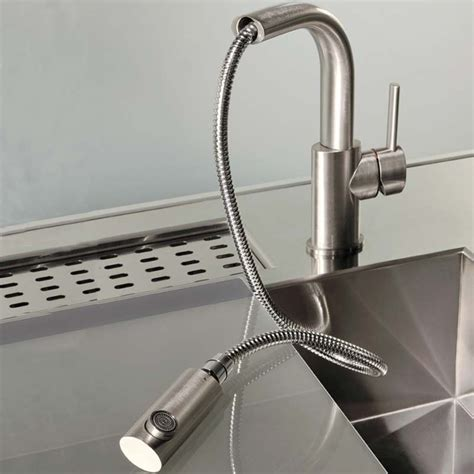 sink taps kitchen gessi ovale kitchen mixer tap pull out spray brushed steel 2280