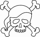 Skull Coloring Pages Bones Printable Pirate Crossbones Halloween Colouring Scary Coloring4free Adult Theme Sheets Pirates Paper Adults Sheet Filminspector Drawing sketch template
