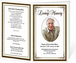 funeral bulletins simple elegant frame funeral programs With funeral handouts template