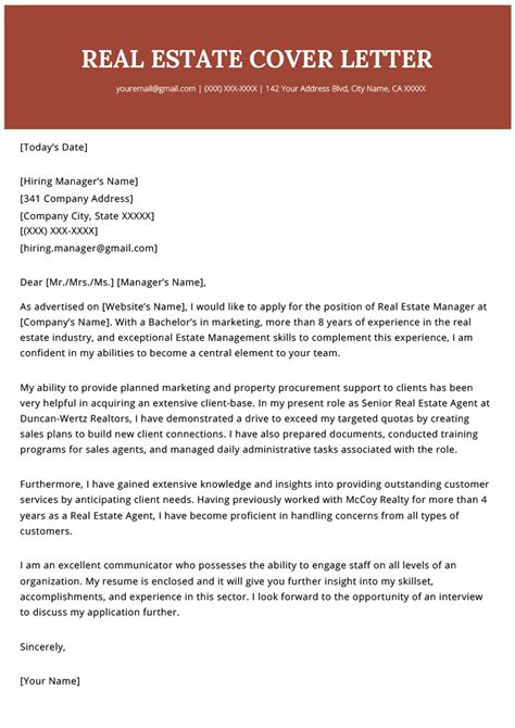 Realtor Resume Sle by Real Estate Cover Letter Exle Resume Genius