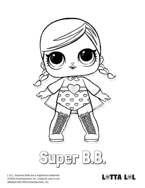 super bb coloring page lotta lol coloring pages super