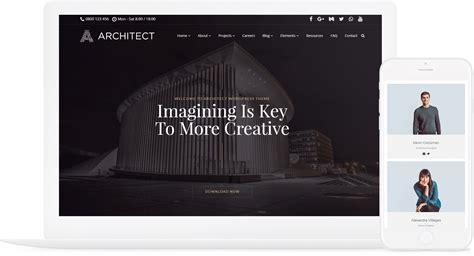 Best Architectural Website by Architect Theme Interior Design Responsive