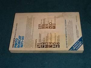 Sell 1971  Mercury Bobcat Shop Manual