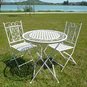 Salon De Jardin En Fer : salon de jardin en fer forg tables chaises bancs ~ Teatrodelosmanantiales.com Idées de Décoration