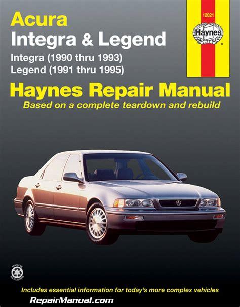 free auto repair manuals 1988 acura integra transmission control acura legend 1991 1995 haynes automobile repair manual
