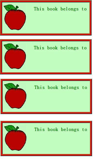 Free Printable School Book Label