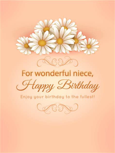 wonderful niece birthday daisy flower card