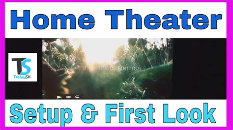 Home Theater 120 inch Setup First Look (Projector 5 1