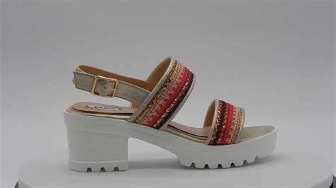 latest rainbow design ladies flat sandals buy ladies