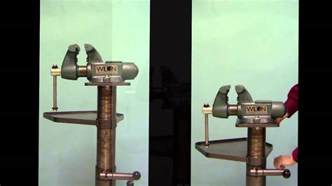 Bench Vice Images by Votaw Tool Co 2155 Adjustable Vise Stand Youtube