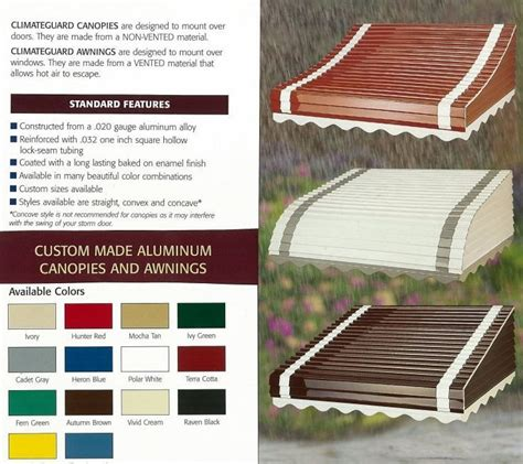 places  buy aluminum awnings including   companies  business